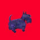 Scottish Terrier Watercolour  by BonniePortraits