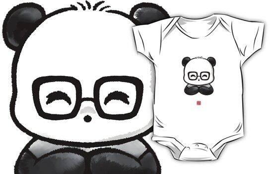 Geek Chic Panda by Panda And Polar Bear