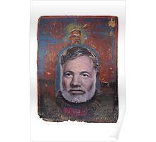 Portrait of Ernest Hemingway Poster