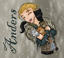Anders with kittens by PhantasmicDream