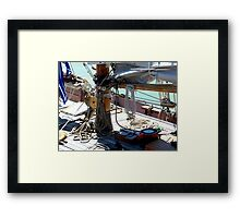 Tecla...........the deck of a working boat ! Framed Print