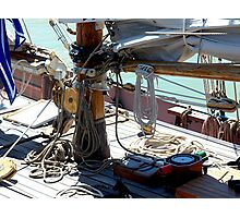 Tecla...........the deck of a working boat ! Photographic Print