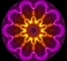 Pink Purple Rays Kaleidoscope 01 by fantasytripp