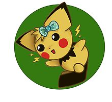 Blue Ribbon Pichu by TimeSlug