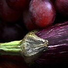 Aubergine and Grapes by Sunchia Milic