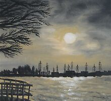 Oil painting - Emeryville Marina II, 2008 by Igor Pozdnyakov
