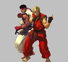 Streetfighter Ken & Ryu Phone Case by Bergmandesign
