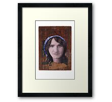 Portrait of Florence Lawrence Framed Print
