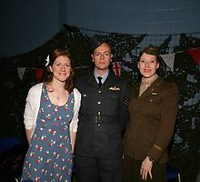 All dressed up in uniform at party at the blitz by Keith Larby