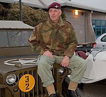 Jeep outside Party in the Blitz in Biggin Hill by Keith Larby
