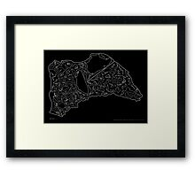 Race Tracks to Scale V2 - Plain Layouts (Inverted) Framed Print
