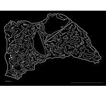 Race Tracks to Scale V2 - Plain Layouts (Inverted) Photographic Print