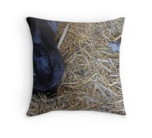 Friends in the Hutch Throw Pillow