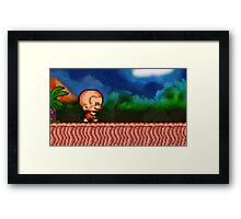 Bonk / BC Kid retro painted pixel art Framed Print