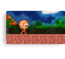Bonk / BC Kid retro painted pixel art Canvas Print
