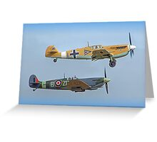 Friend And Foe Scramble - Duxford Flying Legends 2013 Greeting Card