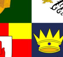 Arms of Four Provinces of Ireland  Sticker