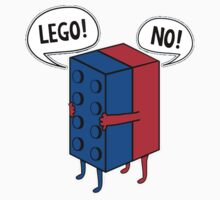 Lego No Funny Shirt and Stickers by 8675309