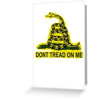 Don't Tread On Me Gadsden Flag American Flag  Greeting Card