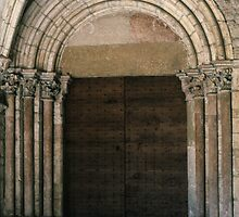 Main door Notre Dame Beaune France 198404290007 by Fred Mitchell