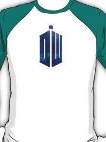 Blue Galaxy Police Box T-Shirt