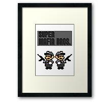 Super Mafia Bros  Framed Print