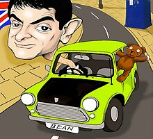 MR BEAN & DR WHO IPAD CASE by David Lumley