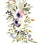 Watercolor flowers by SolomatinaY