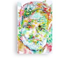 ERNEST HEMINGWAY watercolor portrait.3 Canvas Print
