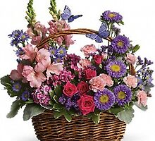 Country Basket Blooms Flowers by eastprovidencef