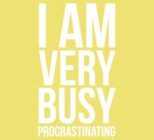 I am very busy (procrastinating) - White Kids Clothes