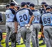 Tampa Bay Rays Baseball Team by chris-csfotobiz