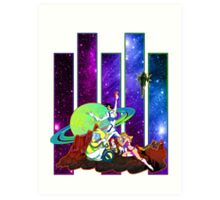 Dandy Vacation. In Space Art Print