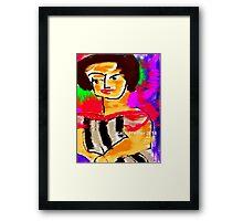 Rainy Monday Woman Framed Print