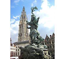 Icons of Antwerp, Belgium Photographic Print