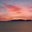 Dawn over the Isle of May by David Alexander Elder