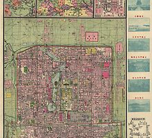 Antique Map of Beijing, China from 1921 by bluemonocle