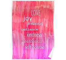 Inspirational Text on Pink Watercolor Abstract Poster