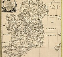 Antique Map of Ireland from c1795 by bluemonocle