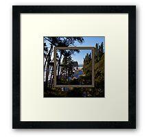awesome ruby beach, wa (2x square) Framed Print