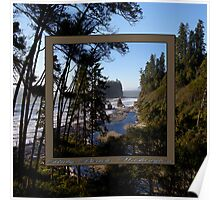awesome ruby beach, wa (2x square) Poster