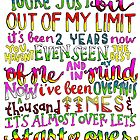 Out of my limit lyrics by maddiedrawings