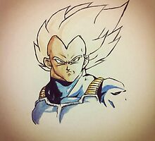 Super Saiyan Vegeta by SaiyanAngel