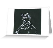 Portrait of Nikola Tesla Greeting Card