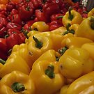 Colorful Peppers, Chelsea Market, New York City by lenspiro