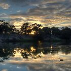 Sunrise Over the Murray by Adrian Paul