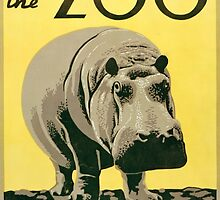 Visit the Zoo, Hippo by Vintagee