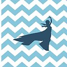 Elsa from Frozen silhouette on Chevron by sweetsisters