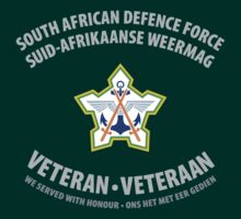 South African Defence Force Veteran (Grey Text) by civvies4vets