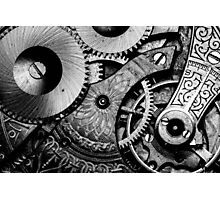 Gears and Age (black and white version) Photographic Print